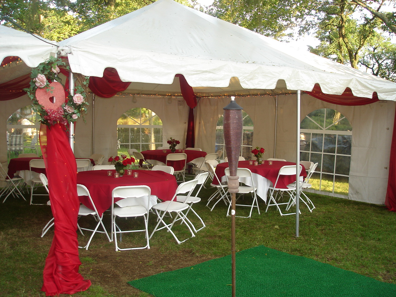 Birthday Party Tent Rentals further Pictures From A Party Tent Hired ...